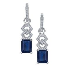 Lafonn Earrings    SIMULATED DIAMOND/LAB GROWN SAPPHIRE STERLING SILVER BONDED WITH PLATINUM
