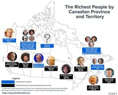 The Richest People In Each Province And Territory