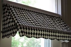 """READY-MADE Indoor Awning Curtain (fits windows 26"""" to 36"""" wide)--shape"""