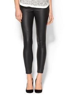 Piperlime Collection Womens Coated Seamed Legging Black by: Piperlime Collection @Piperlime
