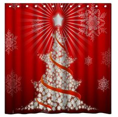 Decorating your house and yard for the Holiday seasons is not just fun; We have gathered the best ideas for Christmas decor here, so you can honor that tradition year after year. Christmas Themes, Merry Christmas, Christmas Decorations, Holiday Shower Curtains, Santa Sleigh, Beautiful Christmas, Winter Holidays, Charmed, Fabric