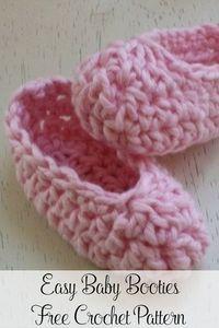 Easy Baby Booties Free Crochet Pattern