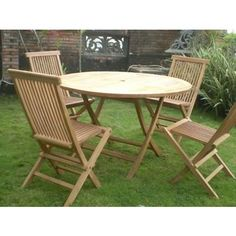 austin wooden 4 seater garden furniture set outside pinterest