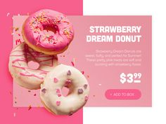 Delicious Donut Product Card designed by Ömer Can Sarıhan. Connect with them on Dribbble; Food Graphic Design, Food Poster Design, Menu Design, Graphic Design Posters, Food Design, Banner Design, Flyer Design, Layout Design, Creative Design