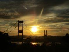 sunset over wales :) #wales #bridge #sunset #photography