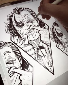 Tattoo Drawings For Men Sketches Joker Drawings, Dark Art Drawings, Cool Drawings, Joker Sketch, Tattoo Sketches, Tattoo Drawings, Drawing Sketches, Drawing Ideas, Joker Pics