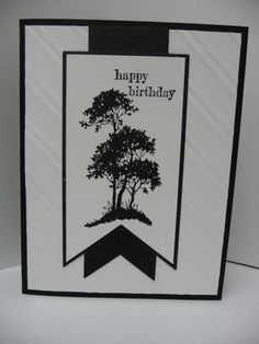 Stampin' Up! ... handcrafted card card ... black and white ... Serene Silouettes ...  fish tail banners ...