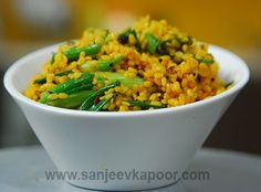 Moong Dal Aur Hare Pyaz Ki Sabzi Recipe - An everyday veggie dish cooked with moong dal and spring onions and a touch of buttermilk.