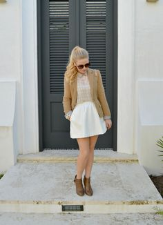 Spring Neutrals - Paper Crown Houndstooth Top