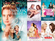 It's Sunday Funday! Kick back and take today to watch some of your favorite Rom Coms!  Share your top picks with us at Elegance & Grace Weddings! #eleganceandgraceweddings #Sunday #funday #romcom #movies #laidback #relax #dayoff #lazydays #movienight #weddingmovies #inspiration #romance #comedy #princessbride #runawaybride #decoybride #brideandprejudice #bollywood #bridewars