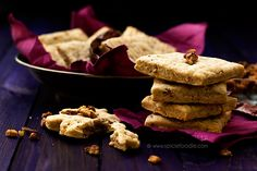 Spicy Goat Cheese, Pecan and Paprika Shortbreads by Spicie Foodie