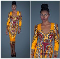 Dashiki gown, trending style, Lastest African fashion, Nigeria fashion, African fabric