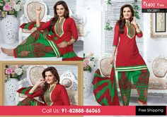 Beautiful Red Green Patiyala Suit at Rs1400 Only Visit http://enasasta.com/deal/red-green-patiyala-suit OR Call/WhatsAp-8288886065  Product Code :- ESC28P7  Deal is Valid For Today Only  Top:Cotton Bottom: Cotton Embriodered Dupatta: Chiffon Work: Embriodery Fabric : Unstitched  Get 5% Extra Discount for Advance Payment on every Deal  Cash On Delivery Available !!  FREE Shipping!!