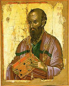 Paul the Apostle, once named Saul called by the Lord. Religious Images, Religious Icons, Religious Art, Byzantine Icons, Byzantine Art, Paul The Apostle, Russian Icons, Creta, European Paintings