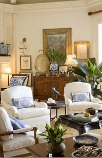 blue accentssitting roomssitting - Traditional Living Room Design Ideas