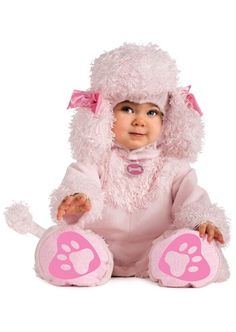 Poodle of Fun Baby Costume Pink Puppy Dog Halloween Fancy Dress Cute Halloween Mono, Halloween Bebes, Cute Costumes, Halloween Costumes For Girls, Halloween Fancy Dress, Baby Costumes, Costume Halloween, Infant Halloween, Creative Costumes