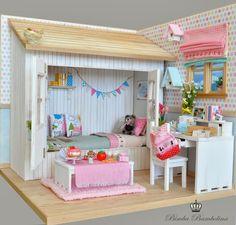 "Bimba Bambolina: OOAK Diorama ""For LaViri- UK"" Scale dolls 1:6 Blythe, Pullip, Momoko, Licca, Yo-Sd, Barbie and Monster High."
