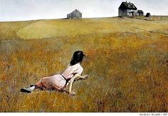 """Christina's World"" by Andrew Wyeth - my imagination has always been riveted by this painting."