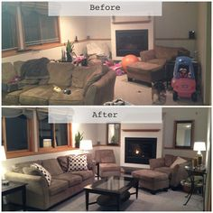 Wow!!! Bria this looks amazing!!!!! Home Staging- Basement Before and After @Bria Hammel Interiors