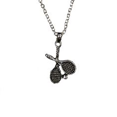 Tennis racquets necklace!