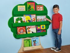 Bring a touch of the outdoors into your classroom with our nature-inspired book tree! The compact, wall-mounted wooden tree features 4 built-in shelves to beautifully display kids' favorite titles, making it easy for children to see and select books. Preschool Rooms, Daycare Rooms, Home Daycare, Tree Bookcase, Bookshelves Kids, Kids Church Rooms, Kids Room, Classroom Furniture, Classroom Decor
