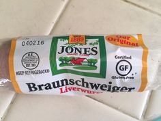 "Many people think this is gross and maybe it's my German heritage, but I love liverwurst! Jones Dairy Farm offers this and other cured meat products as ""Certified Gluten Free."""