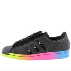 Rare Rita Ora X Adidas Superstar Shoes In Rainbow Superstars Shoes 27bbe50ff