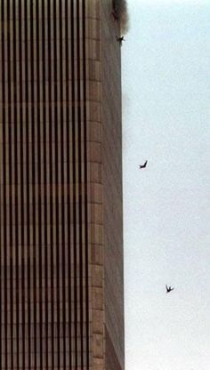 The thing that scares me the most about this picture is that this was the better of two choices. To jump, and have a chance at living, or to undoubtedly die inside the twin towers. These people have families, friends, pets. This was their last hope, and their last moments at life.
