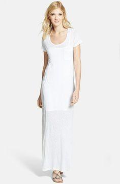 Splendid Slub Knit T-Shirt Maxi Dress | $128.00 #Fashion #Trending #Womens Fashion | Visit WISHCLOUDS.COM for more...