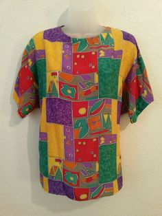 Enaissance Petites Women's Dress Blouse/Top Size Medium Multicolor Short Sleeve  #Enaissance #Blouse #AllOccasionsDressuporDown ..... Visit all of our online locations ..... (www.stores.eBay.com/variety-on-a-budget) ..... (www.amazon.com/shops/Variety-on-a-Budget) ..... (www.etsy.com/shop/VarietyonaBudget) ..... (www.bonanza.com/booths/VarietyonaBudget ) .....(www.facebook.com/VarietyonaBudgetOnlineShopping)