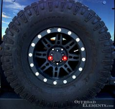 """The Offroad Elements Brake Nut kit is a great alternative to your ordinary third brake light. These LED lights mount into the empty lugs holes in your spare tire and are a plug-and-play installation! Make people """"stop"""" and stare with these awesome lights!"""