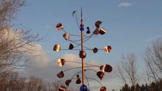 how to make copper wind spinners - Google Search