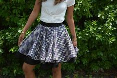 Mood DIY: How to Sew an Extra Full Circle Skirt w/ Horsehair | Circle skirts always seem to be in style. They're fun. comfy, and they look great on nearly every body type! Did you know though, that you can make a circle skirt even more full using horsehair trim?