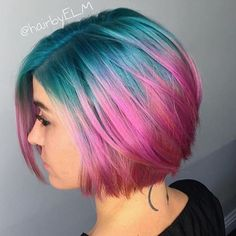 Love these colors #regram @hairbyelm #americansalon