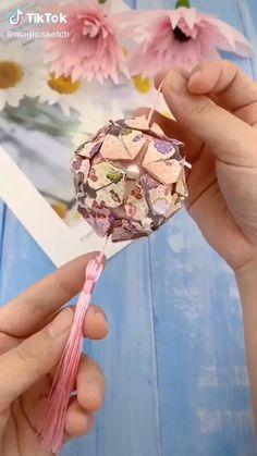 Cool Paper Crafts, Paper Crafts Origami, Diy Paper, Paper Art, Diy Crafts Hacks, Diy Crafts For Gifts, Diy Arts And Crafts, Crafts For Kids, Instruções Origami