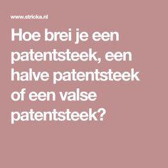 Hoe brei je een patentsteek, een halve patentsteek of een valse patentsteek? Arm Knitting, Crochet, Etsy, Om, Chrochet, Crocheting, Ganchillo