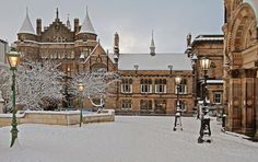can't wait for this time of year again! Edinburgh Uni covered in snow!