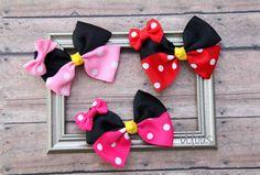 Minnie Mouse Hair Bow Minnie Mouse Hair Clips Disney Bow by Ulous