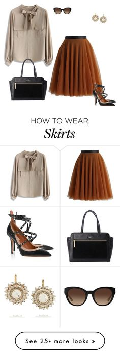 """""""Tulle Skirt"""" by jpschwartz on Polyvore featuring Chicwish, Valentino, Kate Spade, Tory Burch and Elizabeth Cole"""
