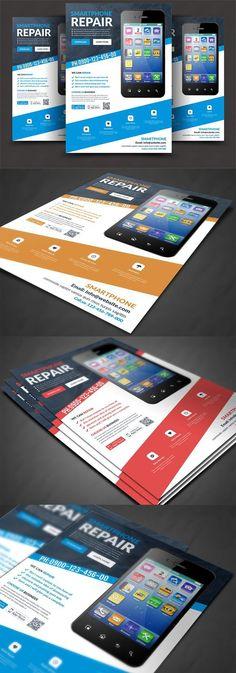 Smartphone Repair Flyer Templates. Flyer Templates