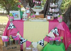 Sweet girly farmer birthday party idea for my sweet, little farm girl!!
