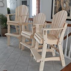 ( you have to know your art, to get that joke) Here are my new Adirondack Tall Chairs done. I had previously posted the Armless Bar Chair, but these have the same arms as my Adirondack Arm Chair. The Deck chair measures. Balcony Chairs, Bar Chairs, Outdoor Chairs, Room Chairs, Dining Chairs, Side Chairs, Outdoor Sectional, Office Chairs, Outdoor Dining