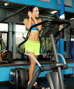This triple-threat workout has you on the stationary bike, then the elliptical, and finally ending on a powerful note with the treadmill