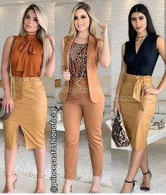 2019 Casual Fashion Trends For Women - Fashion Trends Classy Work Outfits, Business Casual Outfits, Professional Outfits, Chic Outfits, Trendy Outfits, Fall Outfits, Summer Business Attire, Work Fashion, Fashion Today