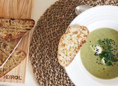 Vihreä superkeitto ja bruschettaa - HEIROL Salvia, Bread, Ethnic Recipes, Food, Eten, Bakeries, Meals, Breads, Diet