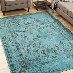 Found it at Joss & Main - Bartow Teal/Gray Area Rug