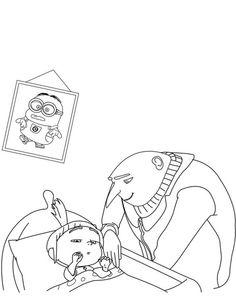 Dibujo para colorear de Gru (mi villano favorito) (nº 13)