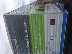 A close-up shot of the back of the mobile classroom.