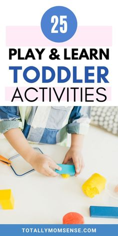 Activities! Aren't they the best way to keep kids occupied for long while you can get some time for yourself? It can help a child escape boredom, teach new skills, entertain them, help you bond with your kids and also help escape sibling rivalry. In this post, you will find 25 fun & learning activities for toddlers that require minimal setup, are easy to do and teaches kids important life skills like sensory development, motor skills, creativity & a lot more. #toddleractivities #playandlearn Kids Activities At Home, Educational Activities For Kids, Sensory Activities, Fun Learning, Teaching Kids, Kids Crafts, Sensory Bins, Preschool Learning, Kindergarten Activities