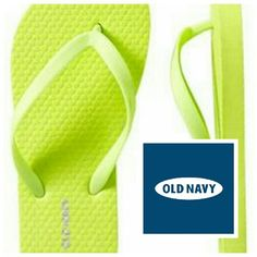 *PRICE FIRM* Lime green flip flops Pop of color Old Navy Shoes Sandals